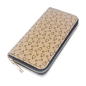 OXYTRA Womens Wallet Ladies RFID Blocking Purse Credit Card Holder Organizer PU Leather Clutch for Girls (Beige A)