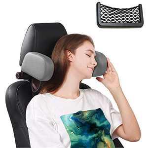 Car Seat Headrest Pillow, Road Pal Headrest for Kids and Passenger, Memory Foam Neck Pillow Adjustable on Both Sides,Travel Sleep Better on Long Trips