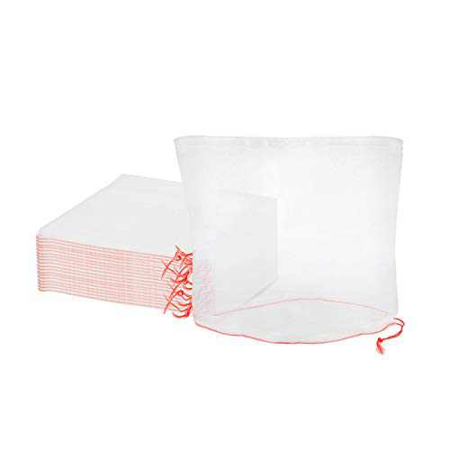 ENPOINT Garden Netting Bags, 25pcs 6x6 in Mesh Fruit Bags for Fruit Trees, Fruit Protection Net Bags with Drawstring Keeping Away Birds Bugs Pests Squirrels