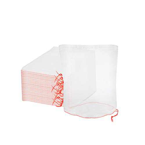 ENPOINT Fruit Protect Bags, 50pcs 4x6 in Garden Netting Bags with Drawstring Against Fruits Flies Bugs Birds Insects, Fruit Tree Bags for Protecting Apple Tomato Peach Figs Guavas Citrus