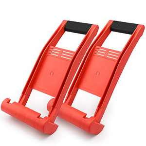Drywall Carrying Tool, Enpoint 2 Pack Sheetrock Plywood Carrier Lift with TPR Rubber Handle, Panel Lifter for Handling Glass Plywood Plasterboard Cement Wood Sheet, Red
