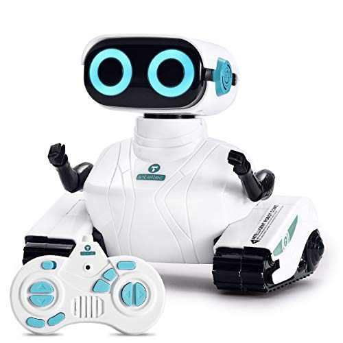 ALLCELE RC Robot Toys for Kids, Remote Control Robot, Funny Sounds Dance Cute Birthday Gifts for Boys Girls 6+Years (White)