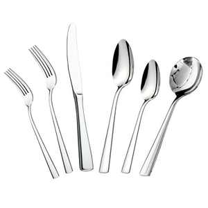 faderic 24 Piece Stainless Steel Flatware Sets, Silverware Cutlery Set For Home Kitchen Restaurant for 4, Knife Fork Spoon Utensils, Mirror Polished, Dishwasher Safe