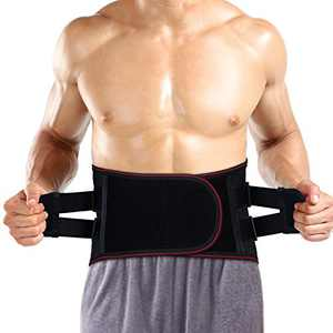 """Back Brace Lumbar Support Belt, Breathable Lower Back Brace with Removable Pad for Back Pain, Sciatica, Herniated Disc, Anti-Skid Back Brace with Adjustable Support Straps (XXL(43""""-47""""))"""