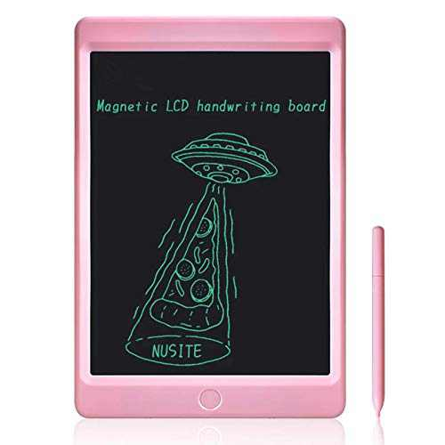 LCD Writing Tablet, Doodle & Scribbler Dry Erase Drawing Board, Play Pad for Kids Children, Memory Notepad for Home LCD020 - Pink