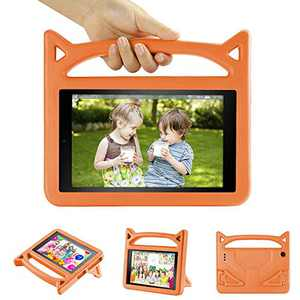 """All-New 10 Tablet Case (2019 2017 2015 Released)-Dinines Light Weight Shock Proof Kids Friendly Case Cover for 10.1"""" Tablets,Orange"""