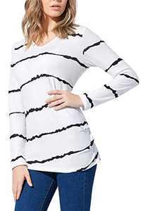 YANJUE Womens Tunic Tops Casual V-neck Sweatshirts Loose Tshirts