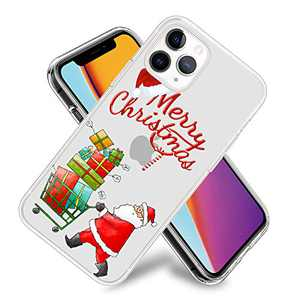 Christmas Phone Case for iPhone 11,11 Pro,11 Pro Max Flexible TPU Shockproof Protection Basic Slim Clear Case Cover(Santa Claus)