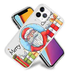 Christmas Phone Case for iPhone 11,11 Pro,11 Pro Max Flexible TPU Shockproof Protection Basic Slim Clear Case Cover(Santa Claus and Presents)