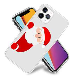 Christmas Phone Case for iPhone 11,11 Pro,11 Pro Max Flexible TPU Shockproof Protection Basic Slim Clear Case Cover(Cute Santa Claus)