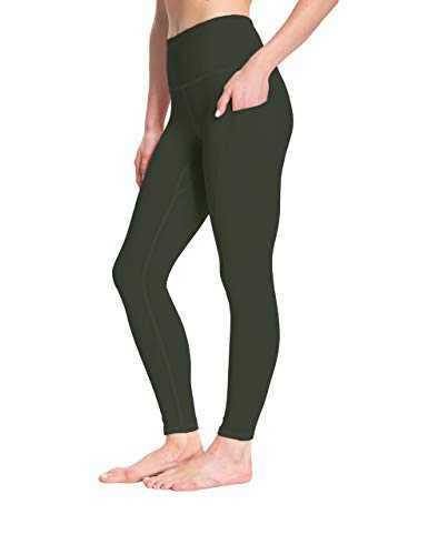 High Waist Yoga Pants for Women Tummy Control Workout Athletic Compression Leggings with Pockets for Women(ArmyGreen,XXL)