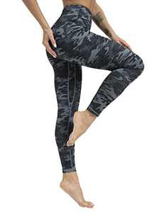 High Waisted Tummy Control Yoga Pants for Women Workout Athletic Compression Leggings for Women(DarkGrayCamo,XXL)