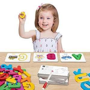 HahaGift Toys for 2 3 4 5 6 Year Old Boys Girls Gift, Alphabet Learning Toddler Toys Age 2-4-1-3, Educational Montessori Toys for 1-5, Great Christmas & Birthday Gift!
