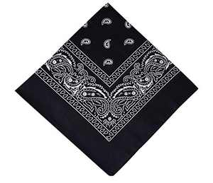12 Pack Navy Blue Bandana, Printed Cotton Bandanas for Men and Bandanas for Women (Navy Blue)