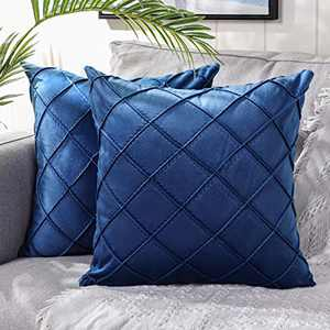 DEELAND Pack of 2 Velvet Decorative Throw Pillow Covers Soft Pillowcase Cushion Covers for Sofa Couch Bedroom
