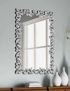 KOHROS Greek Venice Square Art Decoration Wall Mounted Mirror, Used in Hotel Bedroom, Living Room and Bathroom