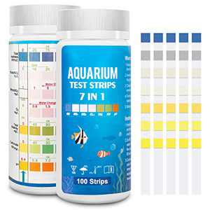 FUNSWTM 7 in 1 Aquarium Test Strips, Fish Tank Test Kit,Freshwater Saltwater Aquarium Water Test Kit to Detect pH Nitrite Nitrate Chlorine Carbonate Hardness (GH & KH)