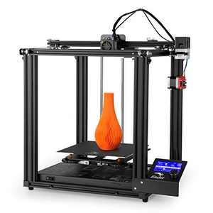 Official Creality Ender 5 Pro 3D Printer with Upgrade Silent Mainboard All Metal Extruder Frame Capricorn Bowden PTFE Tubing C-Magnet Build Surface Plate 220 x 220 x 300mm (Black)