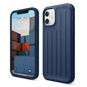 elago Protective Armor Case Compatible with iPhone 12 and Compatible with iPhone 12 Pro 6.1 Inch (Navy Blue) - Shock Absorbing Design, Durable TPU, Wireless Charging Supported