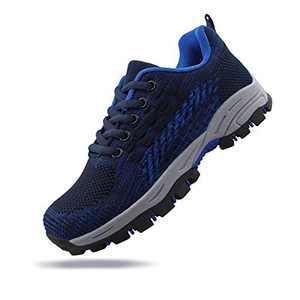 JABASIC Kids Outdoor Hiking Shoes Girls Boys Trail Running Sneakers Trekking Shoes (6,Navy)