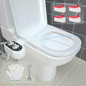 Bidet Attachments, Bidet Toilet Seat - Toilet Warm & Cold Bidet - Toilet Seat Water Jet - Adjustable Water Pressure Bidet - Bidet for Toilet - Smart Toilet - Include Toilet Seat Bumper