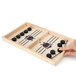 Fast Sling Puck Game, Parent-Child Table Desktop Battle Game, Paced Winner Board Games Toys for Adults and Kids (Small)