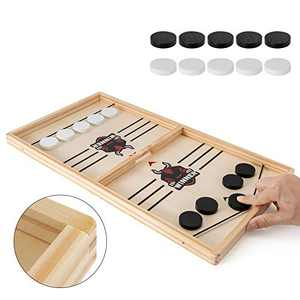 Fast Sling Puck Game, Parent-Child Table Desktop Battle Game, Paced Winner Board Games Toys for Adults and Kids