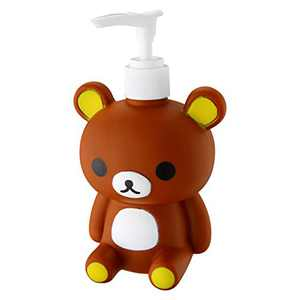 Kids Hand Soap Dispenser for Children, Cute Cartoon Animal Design Brown Bear Shaped Bottle for Children,Fun Decorative Hand Pump Refillable Soap Dispensers for Kitchen and Bathroom Countertop