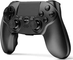 VOYEE Controller Compatible with PS4 Controller, Wireless Controller with Upgraded Joystick/Double Shock/Motion Control/Headphone Jack PS-4/Slim/Pro