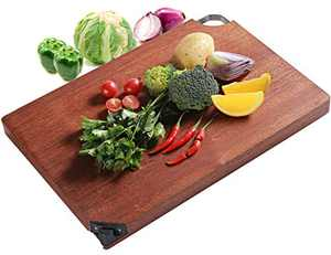 Wood Cutting Board for Kitchen, Reversible Hard Wood Chopping Board with Sharpener for Meat, Vegetables, Durable Large Cutting Boards, Easy to Clean(15.7 inch)