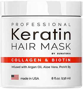 2021 Professional Keratin Hair Mask - Made in USA - Nourishment Treatment for Hair Repair & Beauty - Biotin Collagen Coconut Oil & Pro-Vitamin B5 Protein Mask - Hair Vitamin Complex for All Hair Types