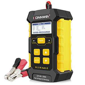 KONNWEI 3 in 1 KW510 5-Amp Fully Automatic Battery Charger, 12V Car Battery Tester Smart Charger Automotive Pulse Repair Maintainer, Trickle Charger Battery Desulfator w/Temp Compensation