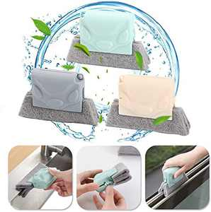 Creative Window Groove Cleaning Brush,Magic Window Cleaning Brush, Window Slides and Gaps,Etc, Easy and Effortless (pink)