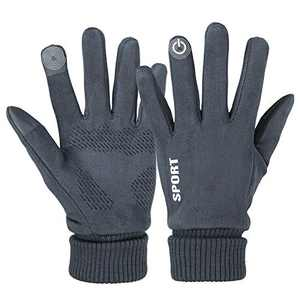 Winter Gloves for Men and Women, Touch Screen Warm Gloves for Cycling Running Skiing Hiking Climbing (Grey)