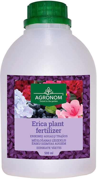 AGRONOM   ERICA PLANT Fertiliser   For Gardening   Plant Feed   Plant Food   Pack 0,5 L
