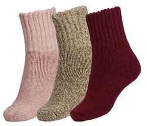 BomKinta Women Winter Solid Socks Thick Warm Wool Socks Cozy Crew Socks for Women