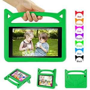 """Case Cover Compatible with All-New 10 Tablet 10.1"""" (7th / 9th Generation, 2017 Release / 2019 Release),Dinines Shockproof Handle Stand Kid-Proof Case for 10.1 inch Tablets,Green"""