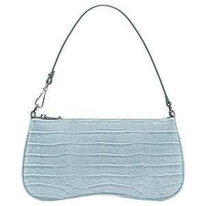 JW PEI 90s Shoulder Bag for Women Vegan Leather Crocodile Purse Mini Clutch Bag Trendy (Light Blue)