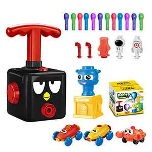 Balloon Launcher Car Toy Set,for Kids Classroom Exchange Party Favors,Stem Toys,Balloon Pump Cars Movie Toy Set,Preschool Educational Science Toys for Kids Boys Girls and Classroom