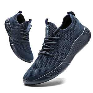 Damyuan Mens Running Shoes Lightweight Athletic Walking Gym Shoes Casual Sports Shoes Fashion Sneakers Blue