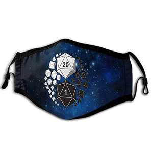 Daily use of Masks Unisex Dungeons and Dragons Yin Yang Protection Reusable Face Mouth Covering for Outdoor Sports Bandana Balaclava for Men Women Halloween Holiday