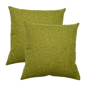 ZWJD Throw Pillow Covers Set of 2 18x18 Throw Couch Pillow Case Decorative Cotton Linen Square Solid Pillow Cover Cushion for Indoor Outdoor Sofa Chair Bed Car