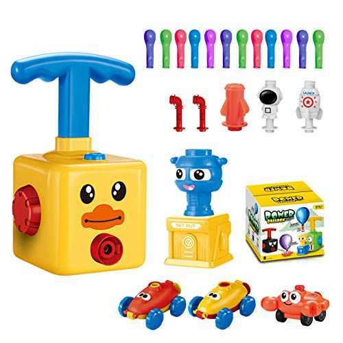 Balloon Launcher Car Toy Set,for Kids Classroom Exchange Party Favors,Stem Toys,Balloon Pump Cars Movie Toy Set,Preschool Educational Science Toys for Kids Boys Girls 3+ and Classroom