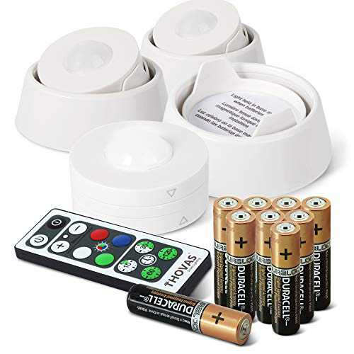 THOVAS Puck Light With Remote Control, 3 Pack Under Cabinet Light With Directional Base, LED Closet Lights, Multi-Color Accent Light, Battery Operated Lights, Under Counter Light, Push Night Light