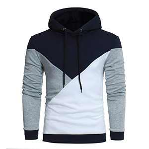 Men's Novelty Hoodies Pullover Shirts- Athletic Constrast Color Fashion Hooded Sweatshirts