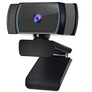 ROADOM 1080P Webcam with Microphone AutoFocus, Tripod Ready/Auto Light Correction/Stereo Mic./Plug and Play/2 Megapixel, Perfect for Online Class,Zoom Meeting,Live Streaming, PC Mac Laptop Desktop
