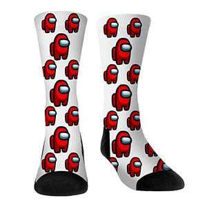 Among Us Game Socks for Men Women Youth Boys Girls Unisex Medium Stockings Socks (Among us sock 2,One size)