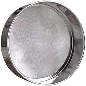 """LOVEDAY 6"""" Stainless Steel Professional Round Flour Sieve Strainer with 60 Mesh (6 Inch, 18/8 Steel)"""