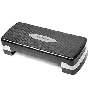 MENCIRO Steppers for Exercise Workout, Step Up Exercise Platform with Adjustable Riser Height, Aerobic Step with Non-Slip Surface for Home Gym