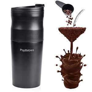 Electric Burr Coffee Grinder, PopBabies Portable Coffee Maker apart from hot water, Coffee Filter, Vocuum Coffee Mug, Portable Coffee Grinder for Travel